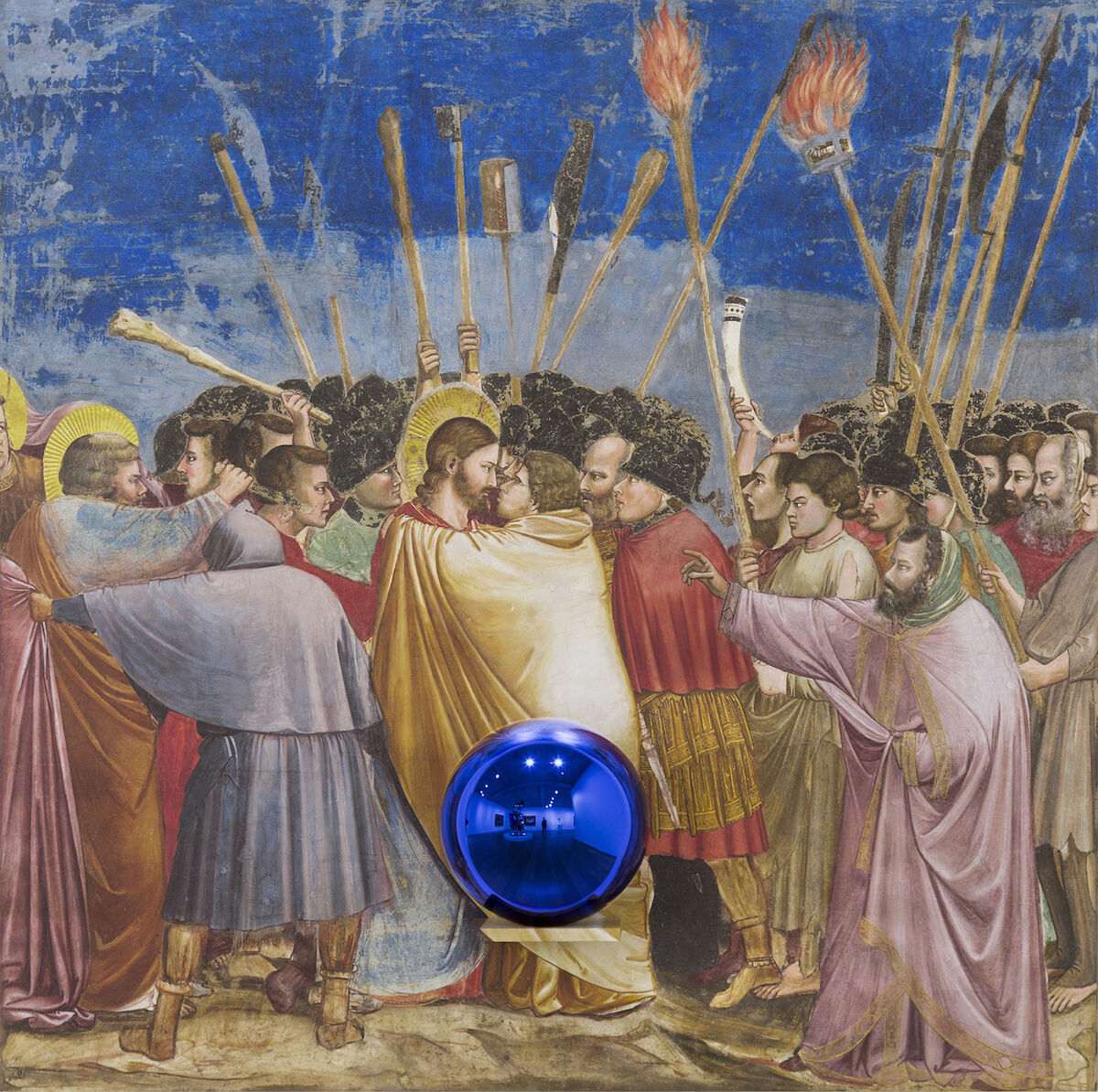 Jeff Koons, Gazing Ball (Giotto The Kiss of Judas), 2015-2016. © Jeff Koons. Courtesy David Zwirner, New York.