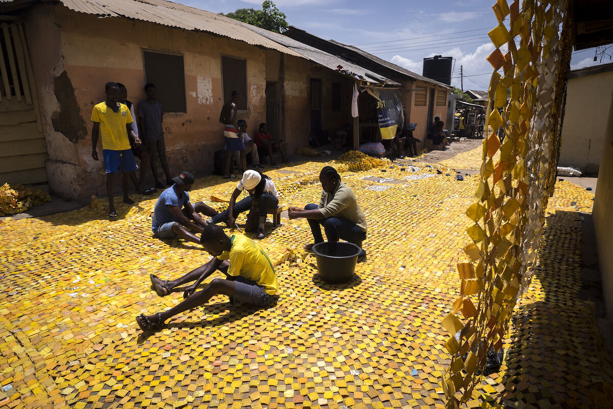 Courtesy of Serge Attukwei Clottey and Gallery 1957, Accra.