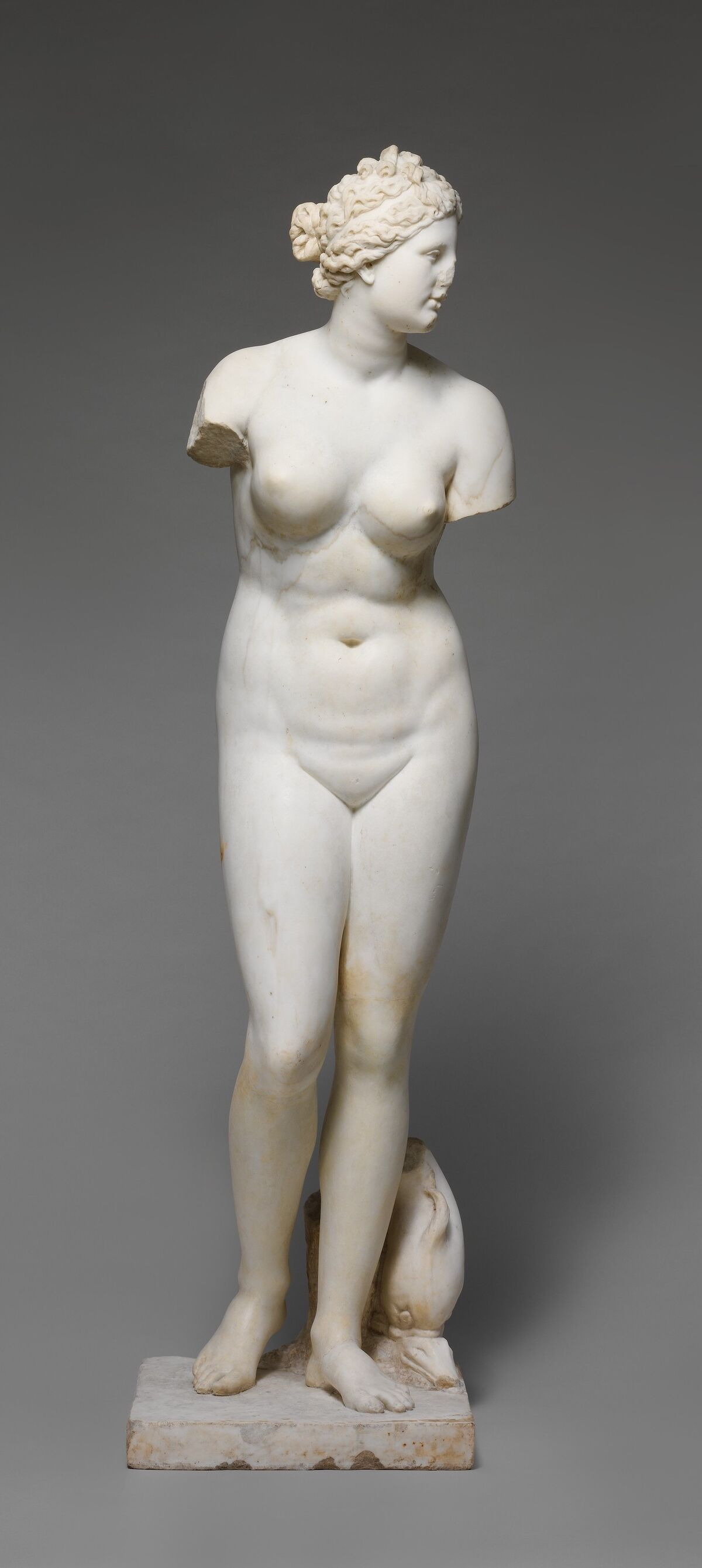 Marble statue of Aphrodite, 1st or 2nd century C.E. Courtesy of the Metropolitan Museum of Art.