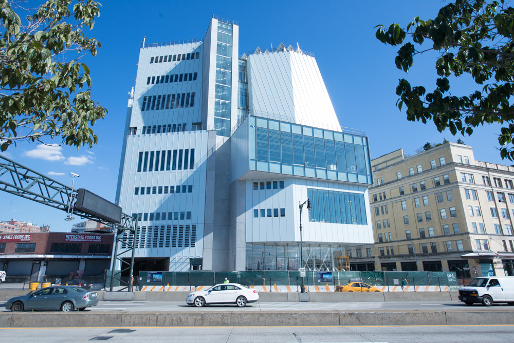 View of the Whitney Museum of American Art's new Renzo Piano-designed building in the Meatpacking District from the west side, September 2014. Photograph by Tim Schenck, courtesy of the Whitney Museum of American Art.
