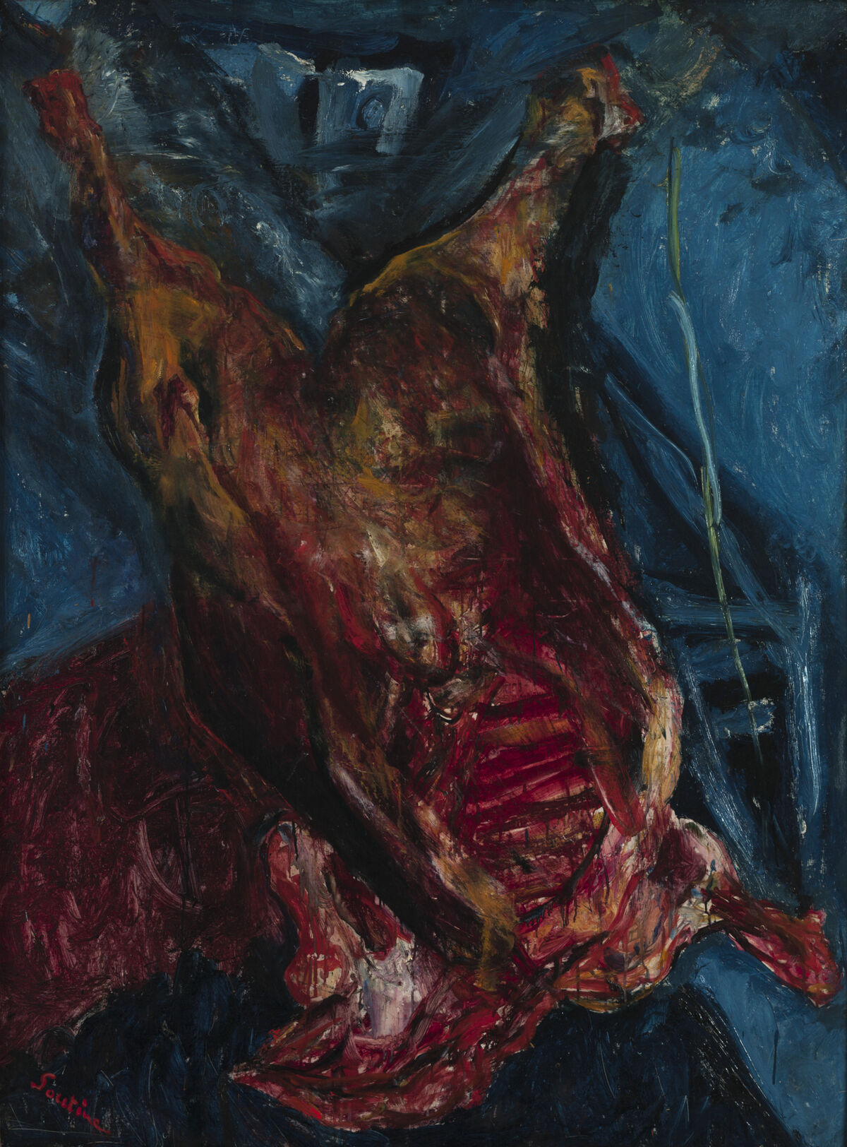 Chaim Soutine, Carcass of Beef, c. 1925. © Artists Rights Society (ARS), New York. Courtesy of the Albright-Knox Art Gallery, Buffalo, New York and The Jewish Museum.
