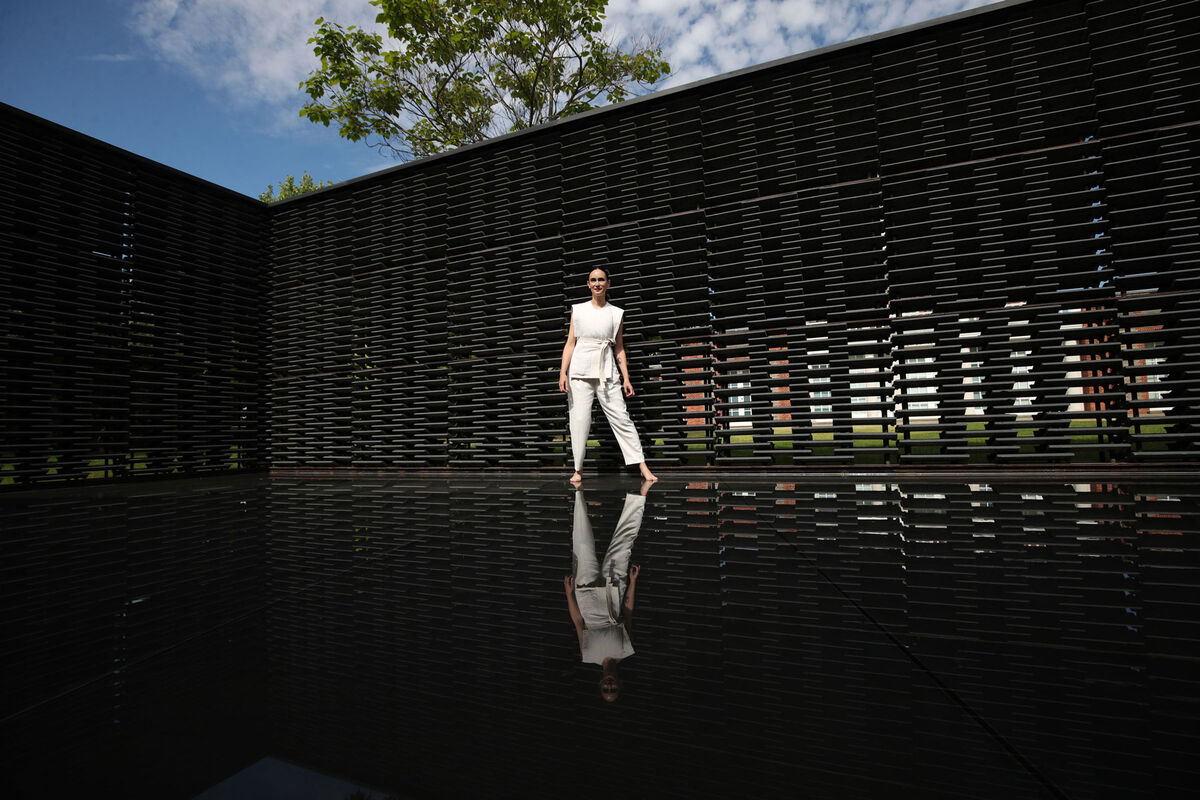 Frida Escobedo in the Serpentine Pavilion 2018. Photo by Yui Mok/PA Images via Getty Images.