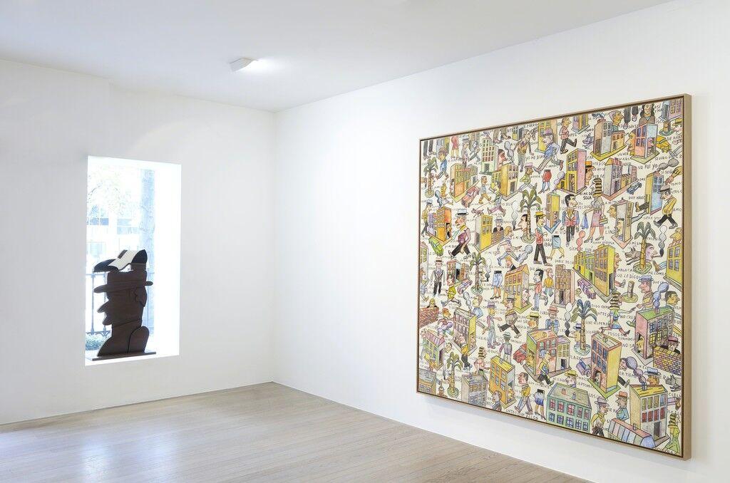 "Installation view of ""Antonio Seguí"" at Galerie Laurent Strouk. Image courtesy Galerie Laurent Strouk."