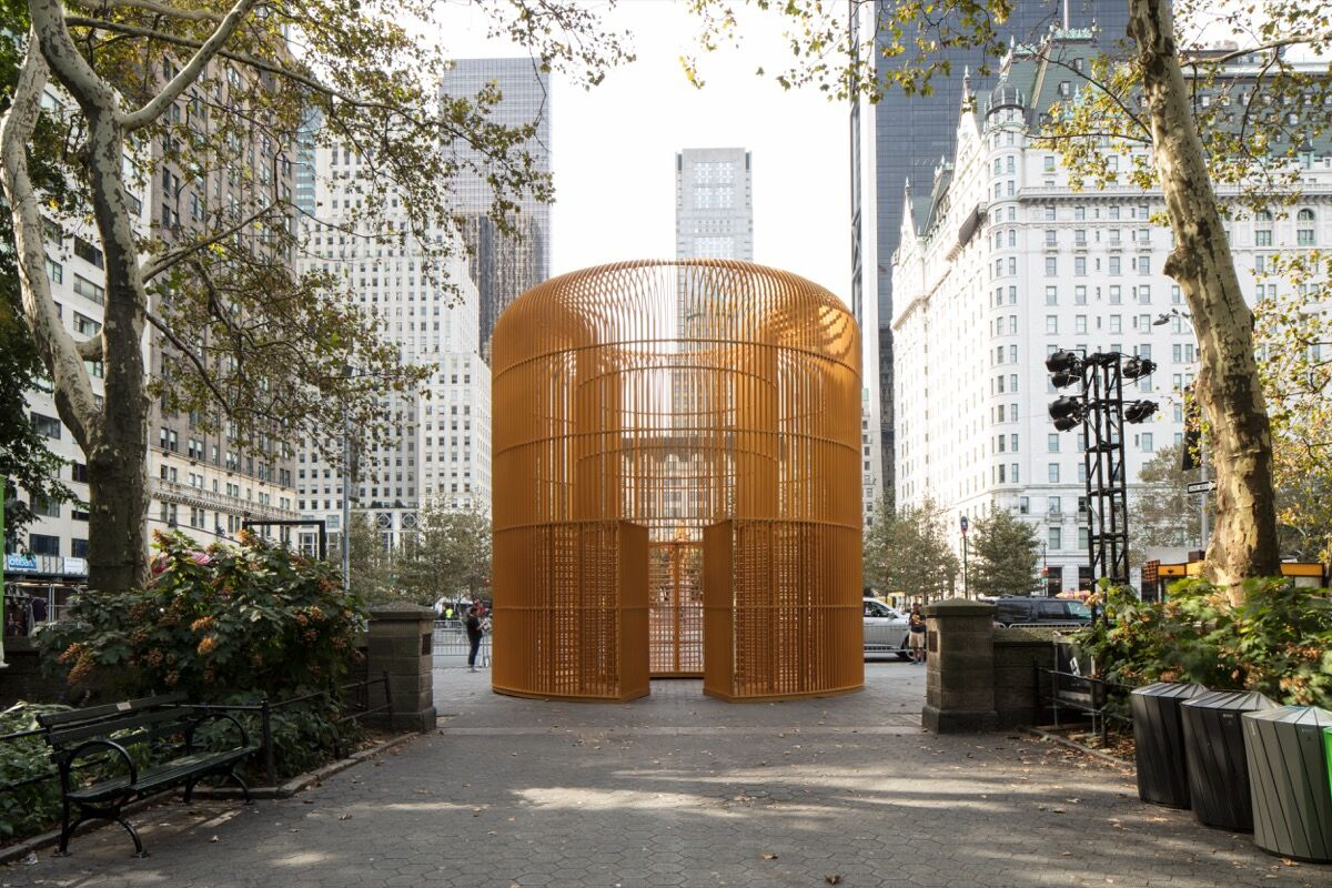 Ai Weiwei, Gilded Cage, 2017. Courtesy of Ai Weiwei Studio/Frahm & Frahm. Photo by Ai Weiwei Studio, Courtesy Public Art Fund, NY. On view as part of the citywide exhibition Good Fences Make Good Neighbors, presented by Public Art Fund October 12, 2017 - February 11, 2018.