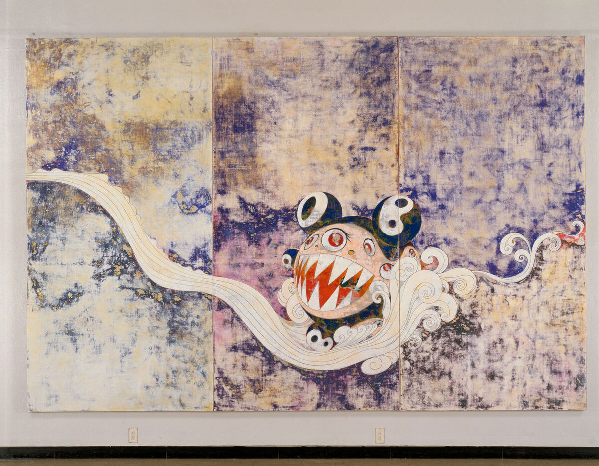 Takashi Murakami, 727, 1996. ©︎ 1996 Takashi Murakami/Kaikai Kiki Co., Ltd. All Rights Reserved. Courtesy of Gagosian.