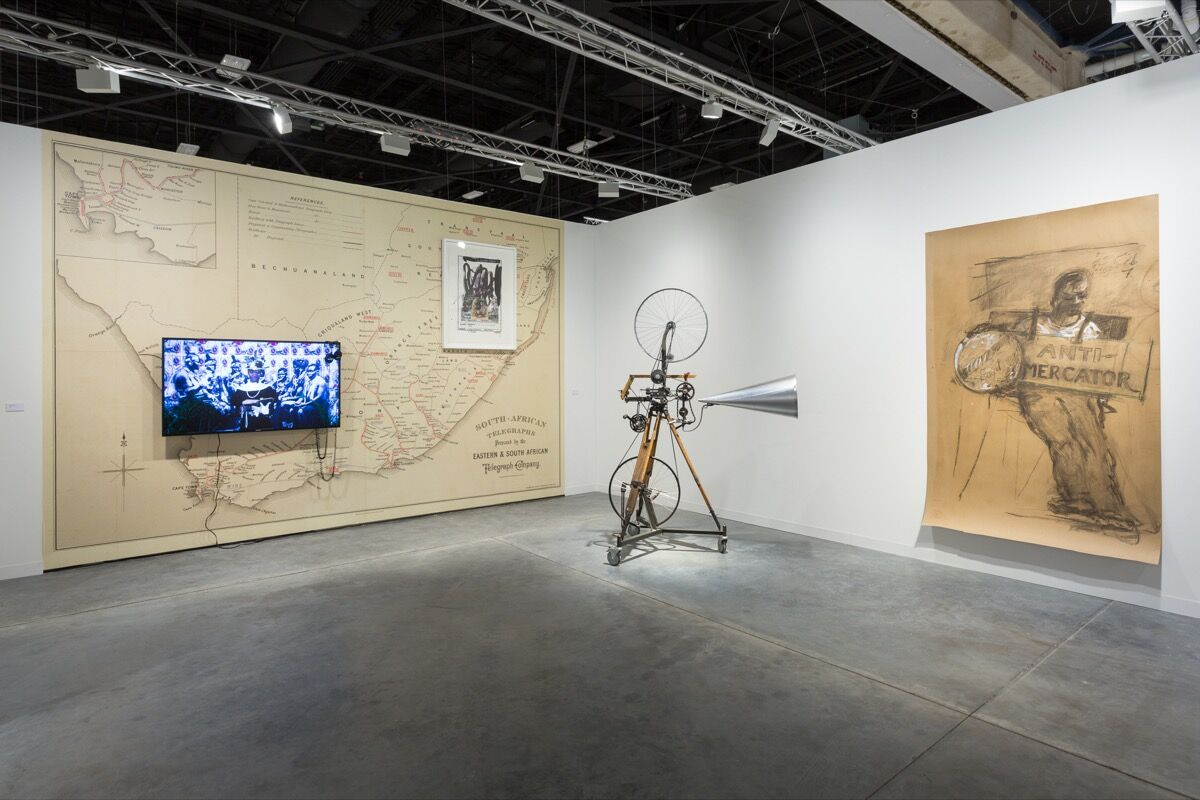 Installation view of Goodman Gallery's booth at Art Basel in Miami Beach, 2017. Photo by Alain Almiñana for Artsy.