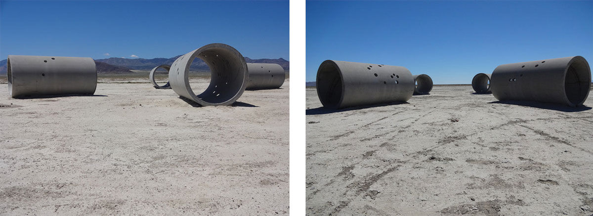 Nancy Holt, Sun Tunnels (1973-1976). Photos courtesy of Retis via Flickr.
