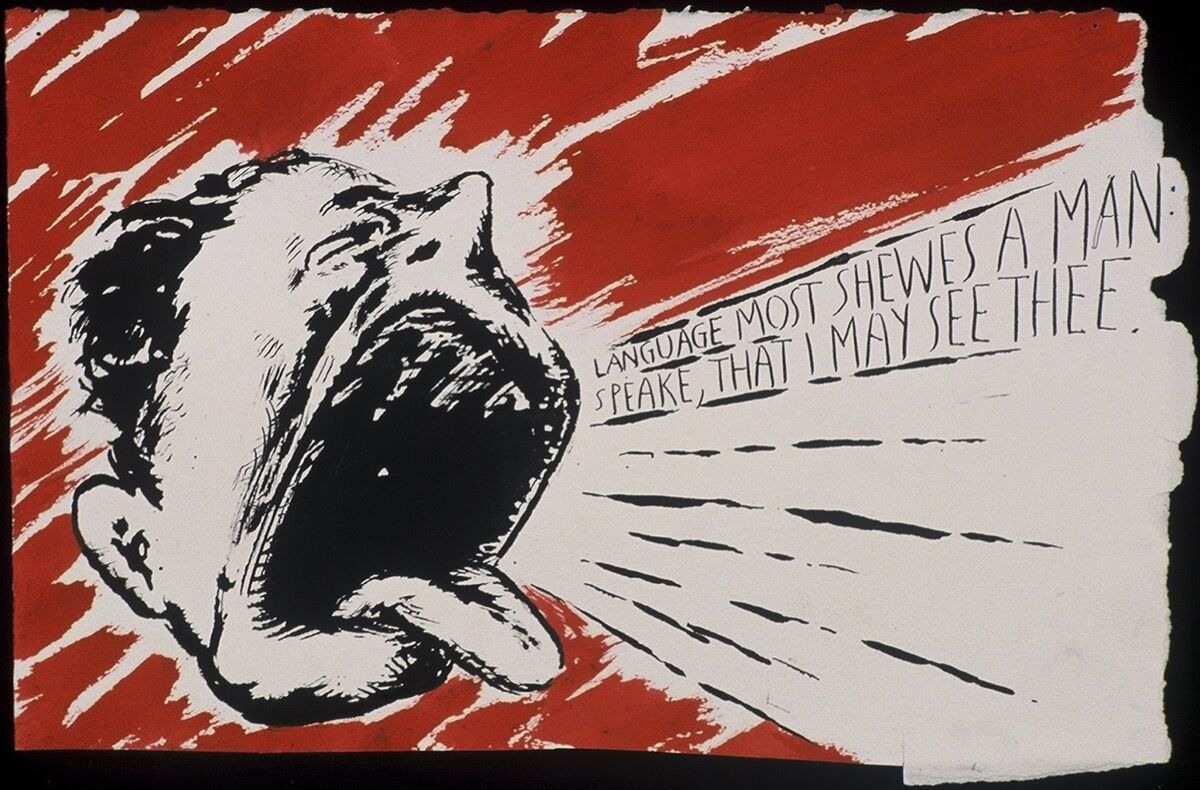 Raymond Pettibon, No Title (Language most shewes...), 2000. Private collection, Switzerland. Courtesy Hauser & Wirth.