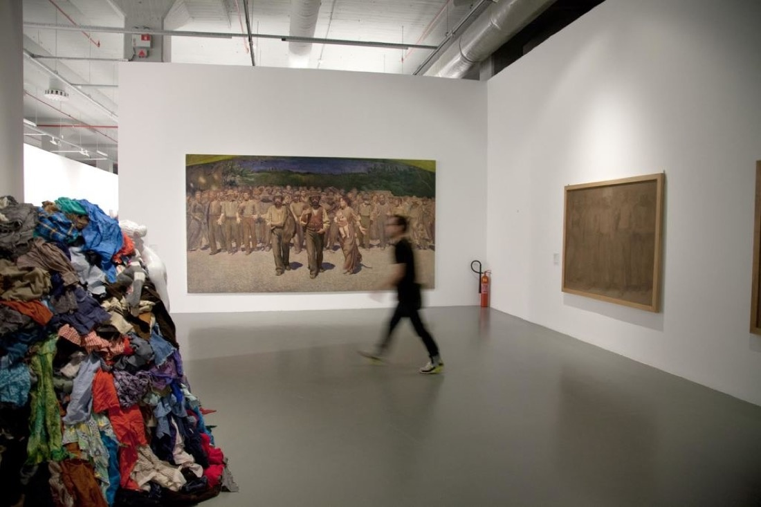 Installation view of Taner Ceylan, 'Volpedo,' 2015, at the Istanbul Moderne as a part of the Istanbul Biennial, Sep. 5–Nov. 1, 2015. Courtesy Paul Kasmin Gallery.