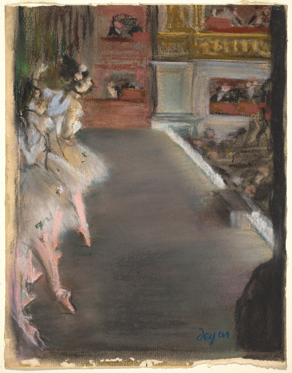 Edgar Degas, Dancers at the Old Opera House, c. 1877. Courtesy of the National Gallery of Art.
