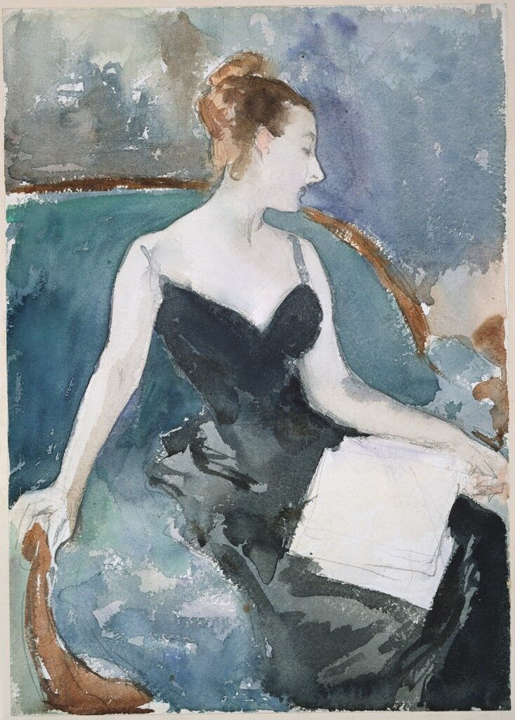 John Singer Sargent, Study for Madame Gautreau (Madame X), ca. 1883. Image via Wikimedia Commons.
