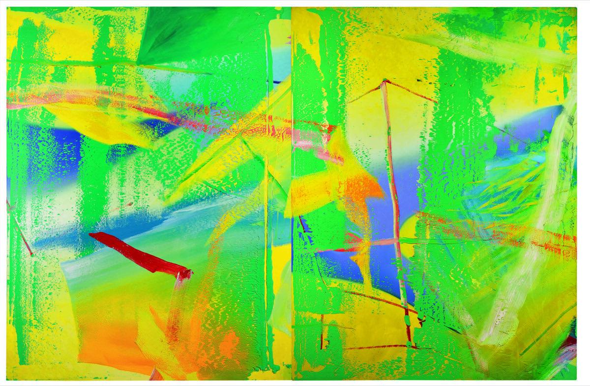 Gerhard Richter, Gelbgrün (Yellow-Green), 1982. © Sotheby's.