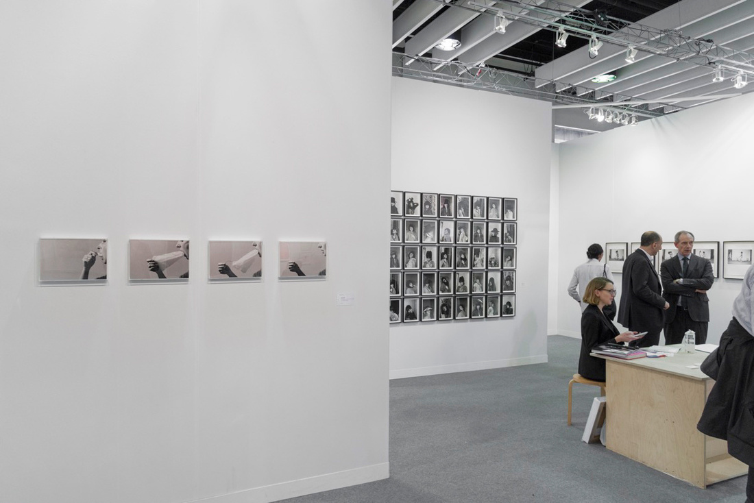 Installation view of Richard Saltoun's booth at The Armory Show, 2017. Photo by Adam Reich for Artsy.