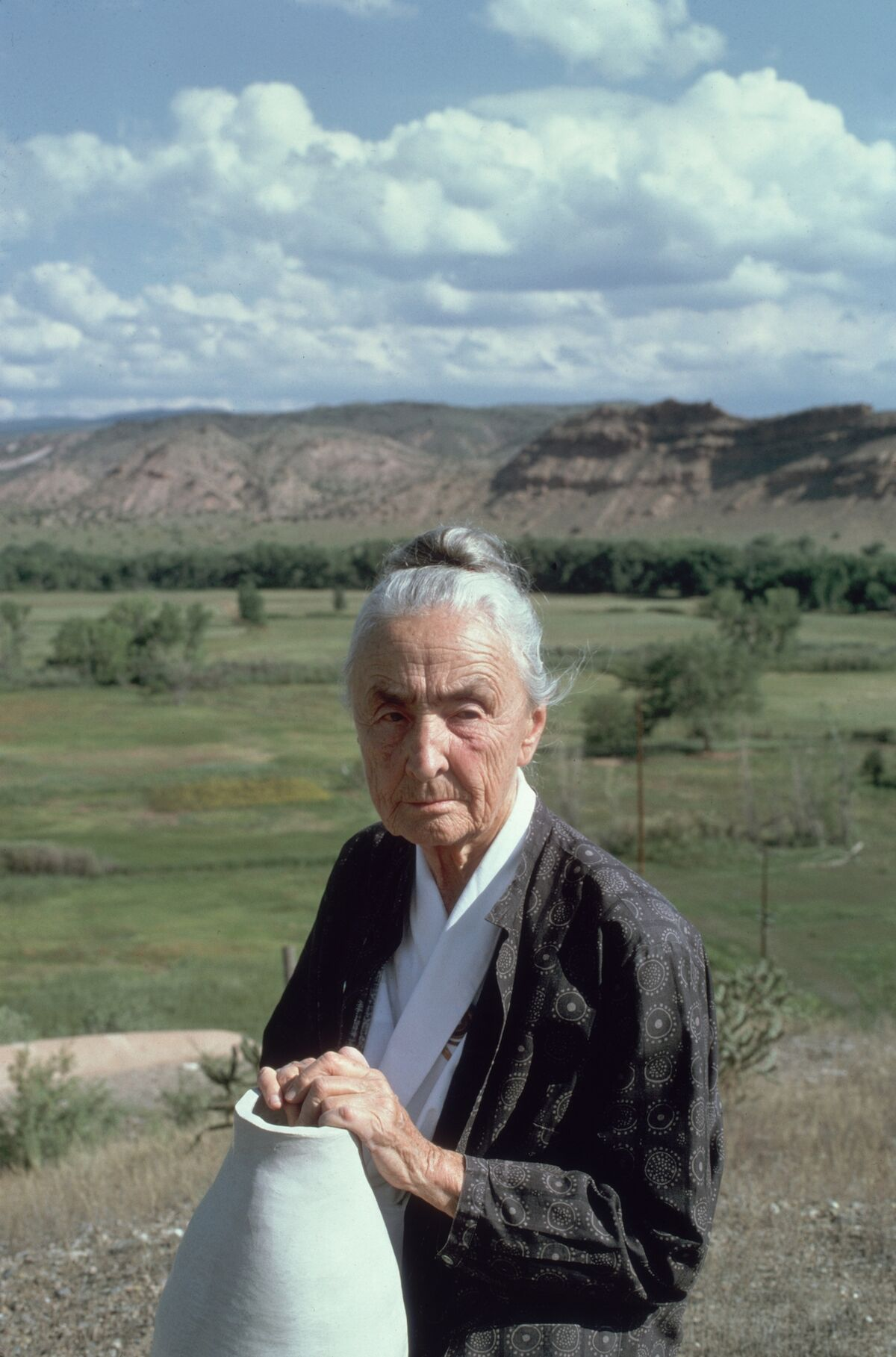 Portrait of Georgia O'Keeffe in Abiquiu, New Mexico, 1974. Photo by Joe Munroe/Hulton Archive/Getty Images.
