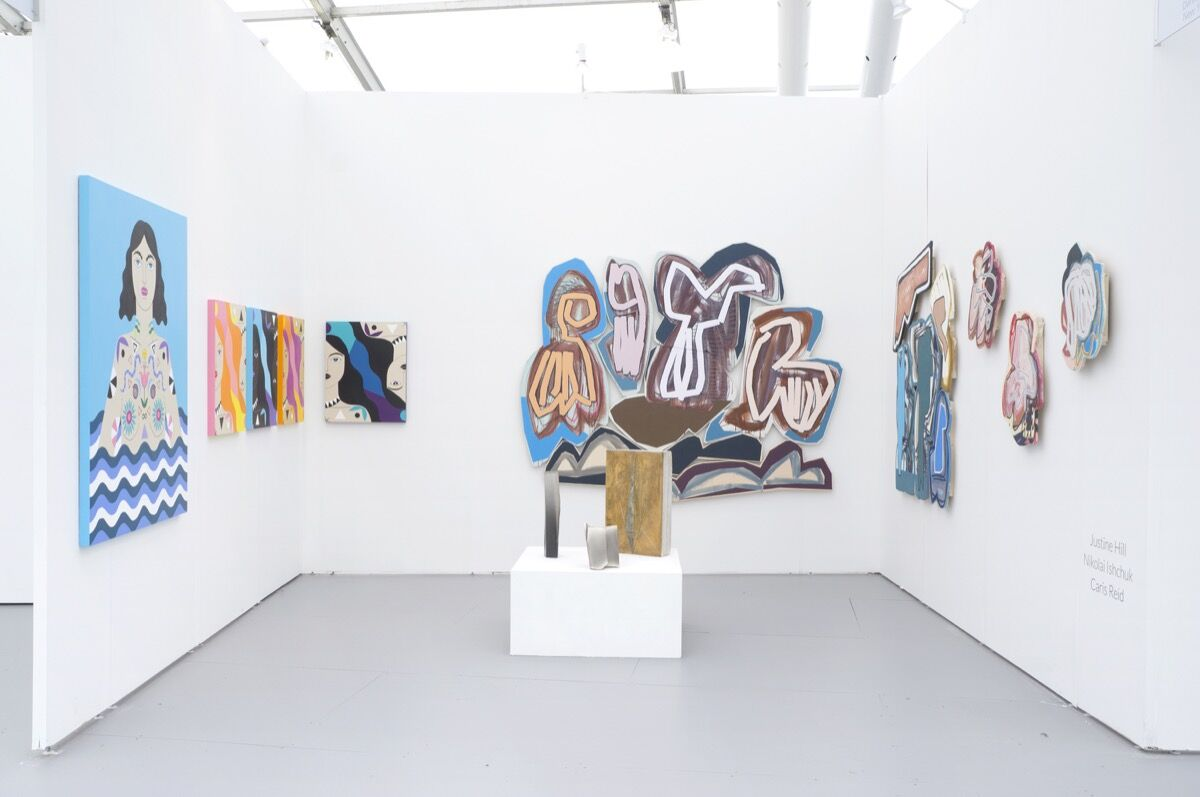 Installation view of Denny Gallery's booth at UNTITLED, Miami Beach, 2016. Photo courtesy of the gallery.