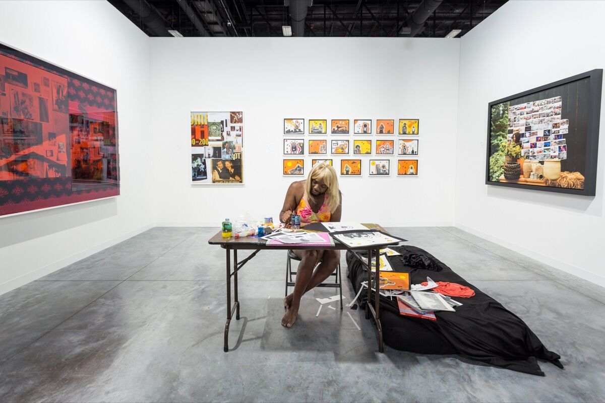 Installation view of David Castillo Gallery's booth at Art Basel in Miami Beach, 2017. Photo by Alain Almiñana for Artsy.