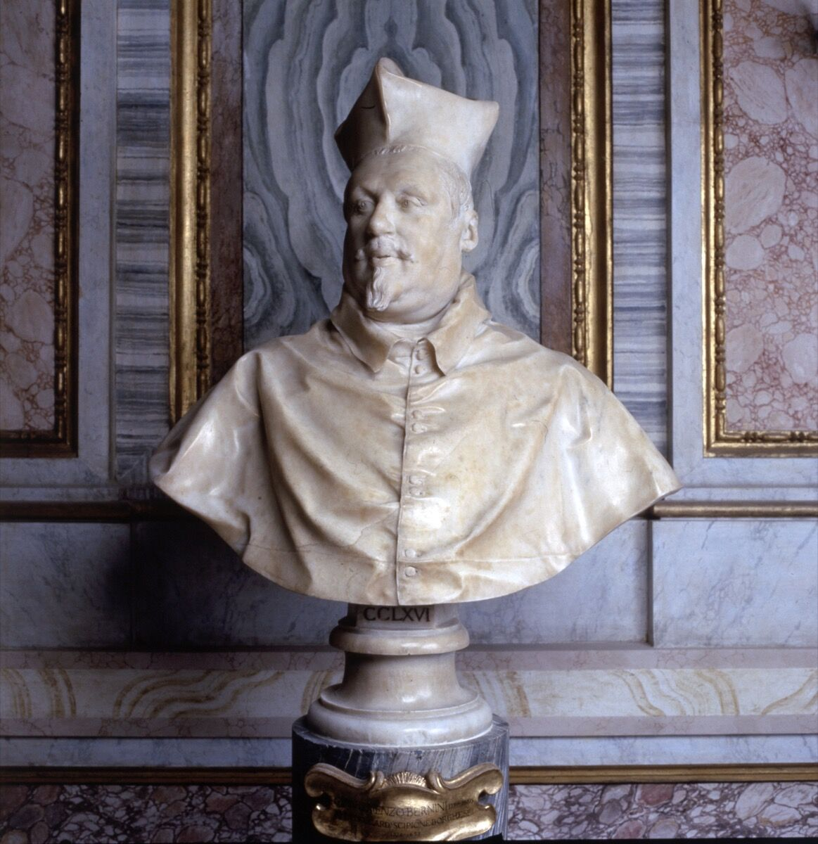 Gian Lorenzo Bernini, Bust of Cardinal Scipione Borghese, 1632. Courtesy of Galleria Borghese.