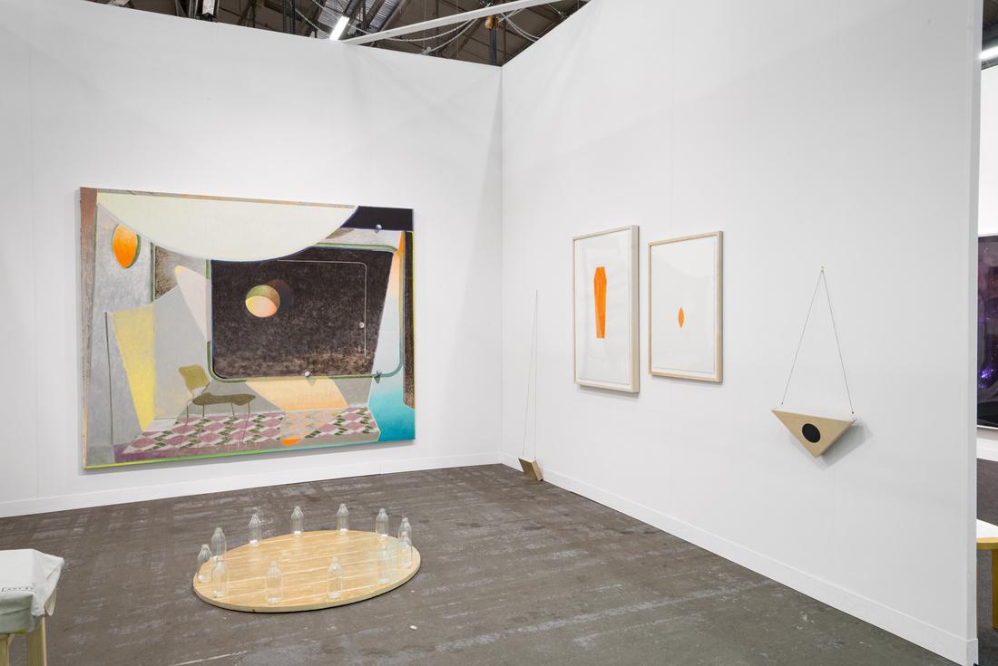 Installation view of Sebastían Fierro's workat Instituto de Visión's booth at The Armory Show, 2016. Photo by Adam Reich for Artsy.