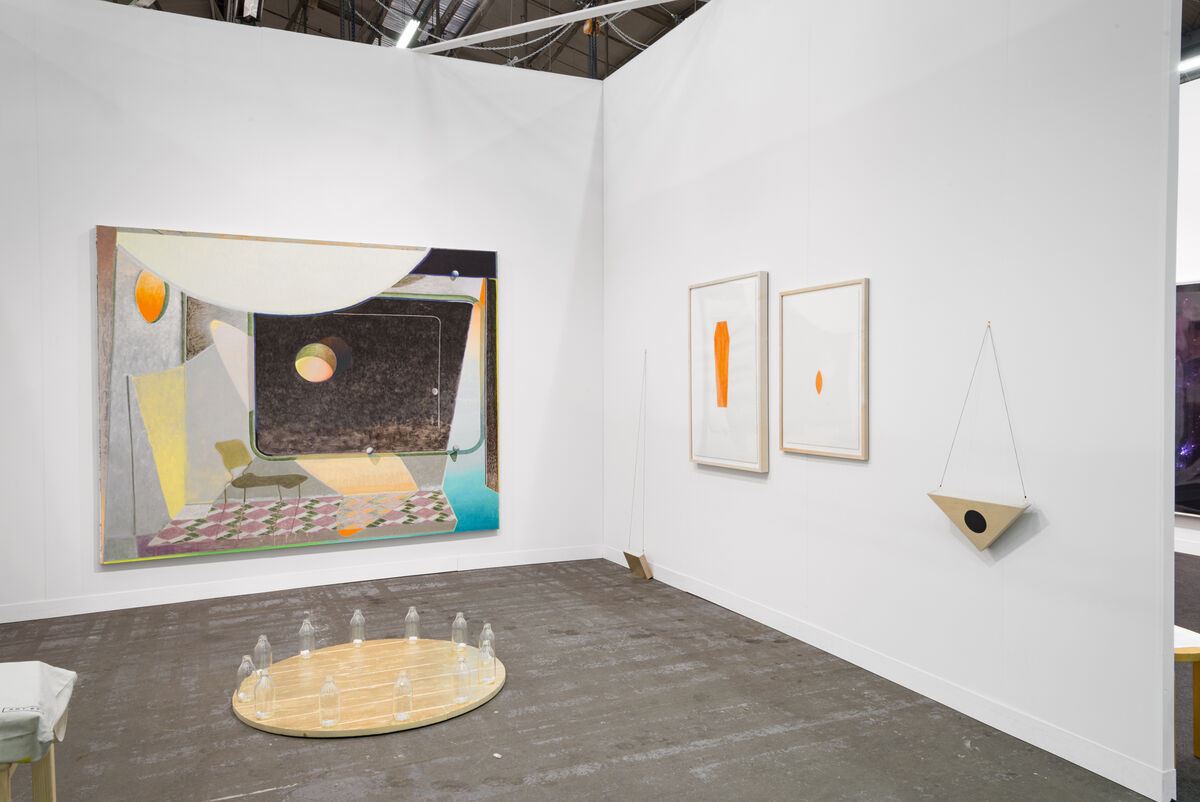 Installation view of Sebastían Fierro's work at Instituto de Visión's booth at The Armory Show, 2016. Photo by Adam Reich for Artsy.