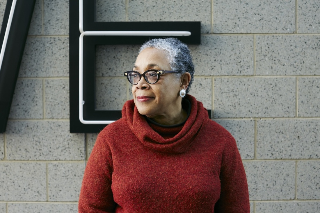 Portrait of Lowery Stokes Sims at the Studio Museum in Harlem by Emily Johnston for Artsy.