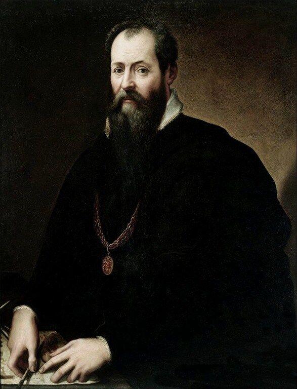 Giorgio Vasari, Portrait of Giorgio Vasari, between 1571-74. Photo via Wikimedia Commons.