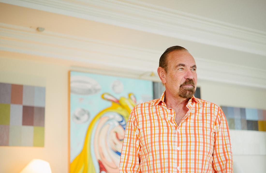 Portrait of Jorge M. Pérez in his Miami home byGesi Schilling for Artsy.