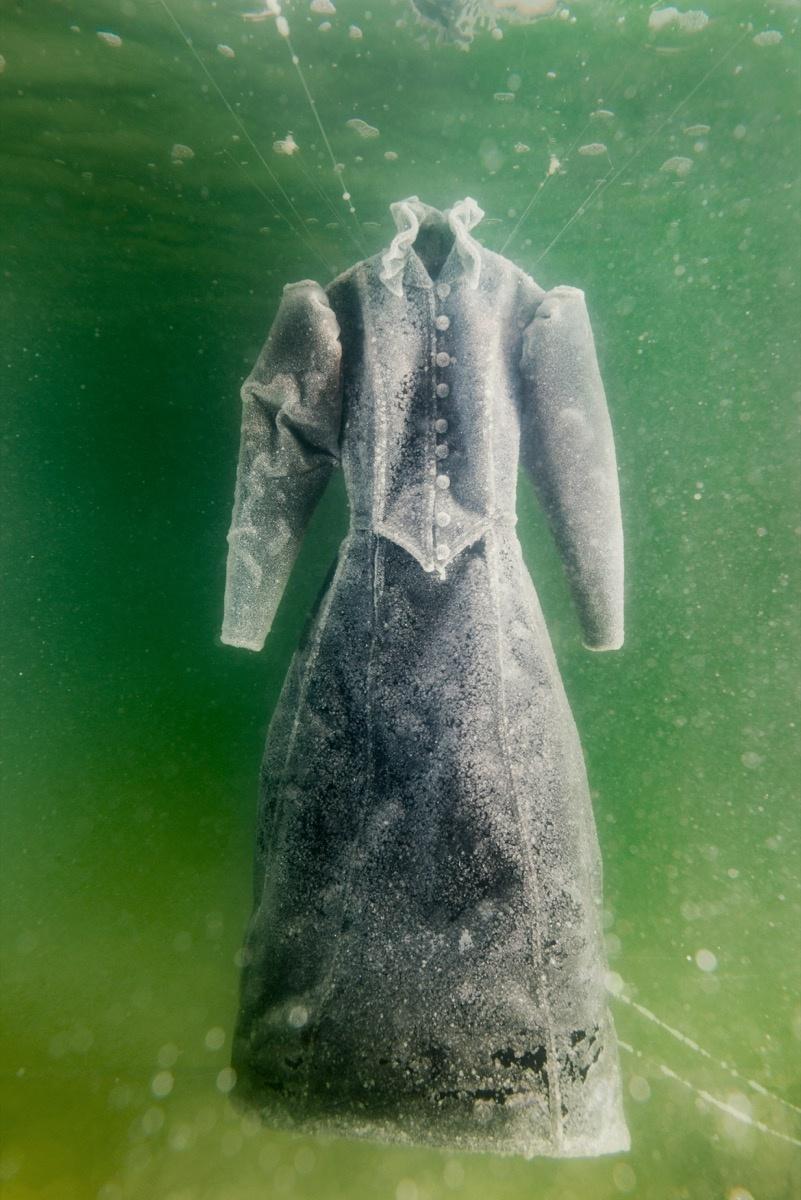 Sigalit Landau, Salt Crystal Bride Gown III, 2014. Image courtesy of the artist and Marlborough Contemporary, London. Photo by Studio Sigalit Landau.