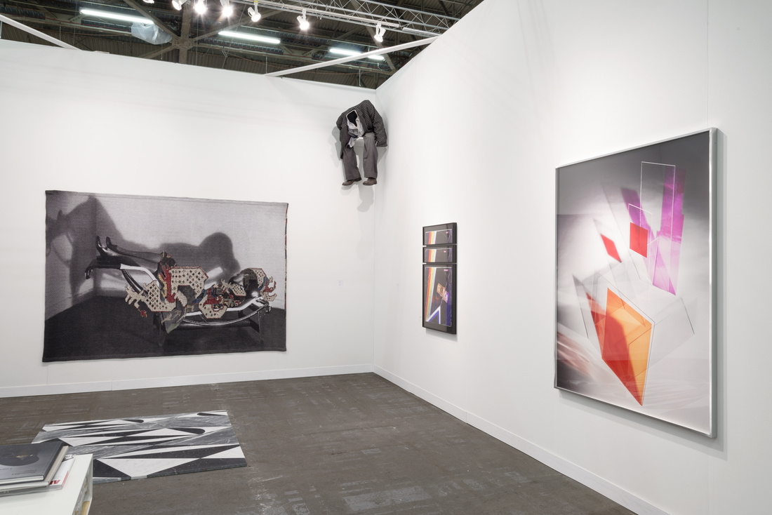 Installation view of Natalie Czech's workat Kadel Willborn's booth at The Armory Show, 2016. Photo by Adam Reich for Artsy.