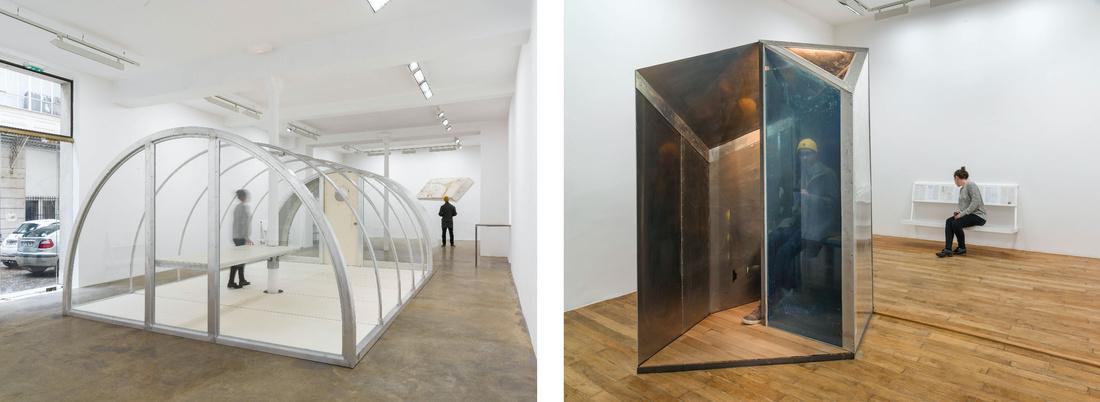 Installation views ofOscar Tuazon at Galerie Chantal Crousel. Photos courtesy of Galerie Chantal Crousel.