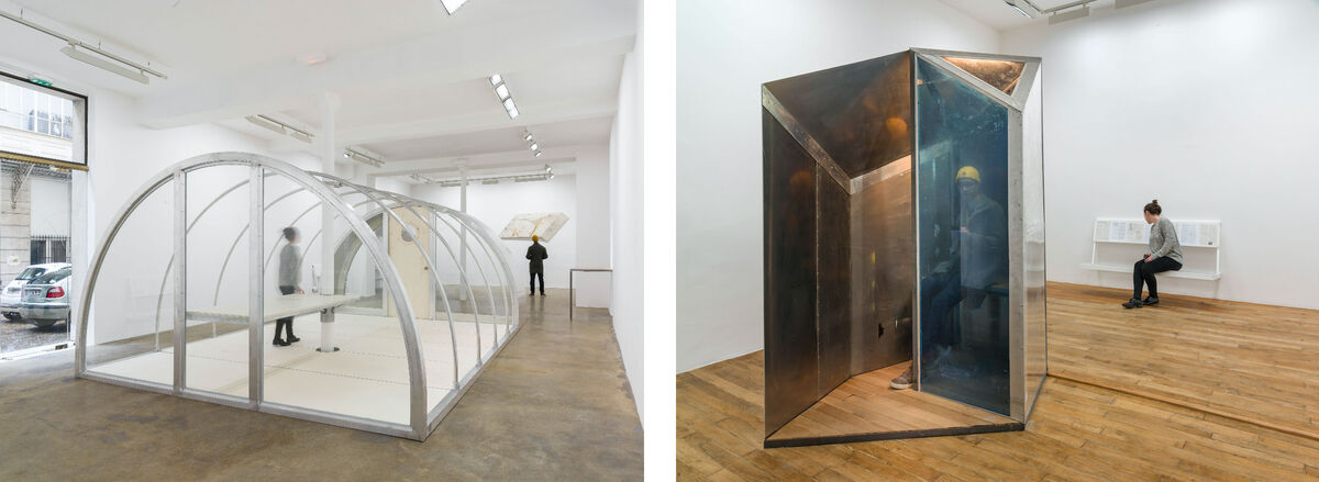 Installation views of Oscar Tuazon at Galerie Chantal Crousel. Photos courtesy of Galerie Chantal Crousel.