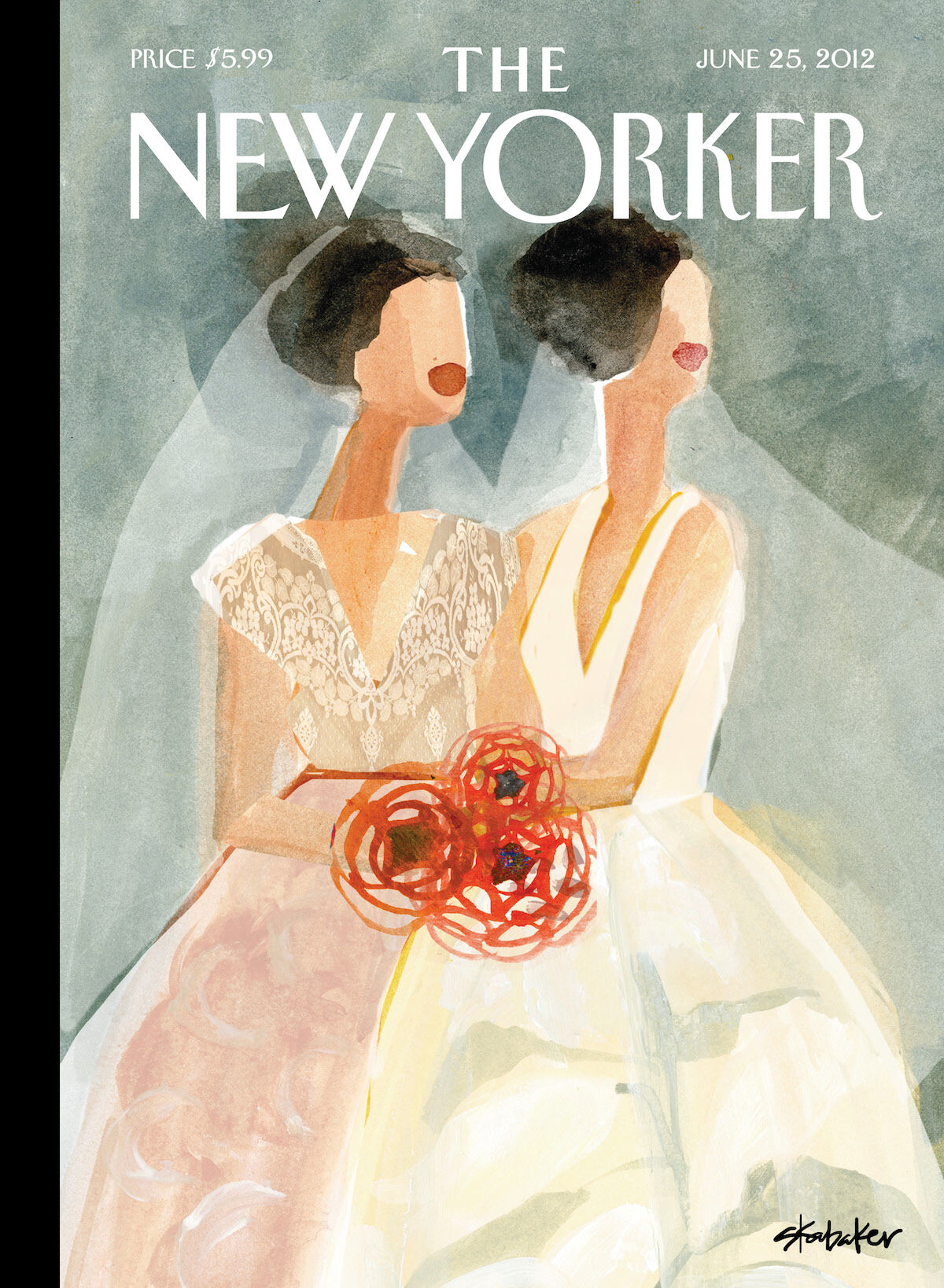 """June Brides,"" by Gayle Kabaker, June 25, 2012. Courtesy of The New Yorker. Used with permission."