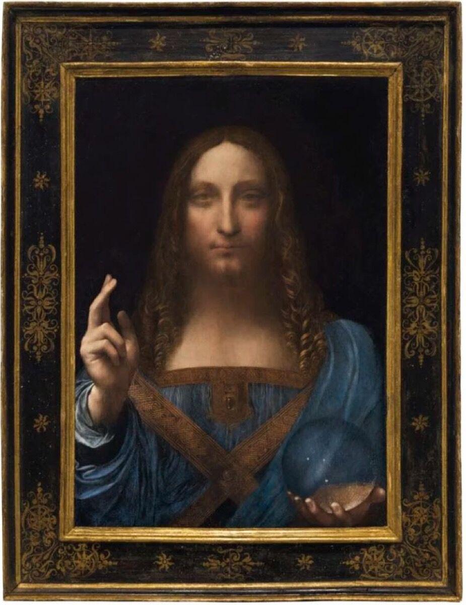 Leonardo da Vinci, Salvator Mundi, ca. 1500. Courtesy of Lowy Antique Frames & Fine Art Restoration.