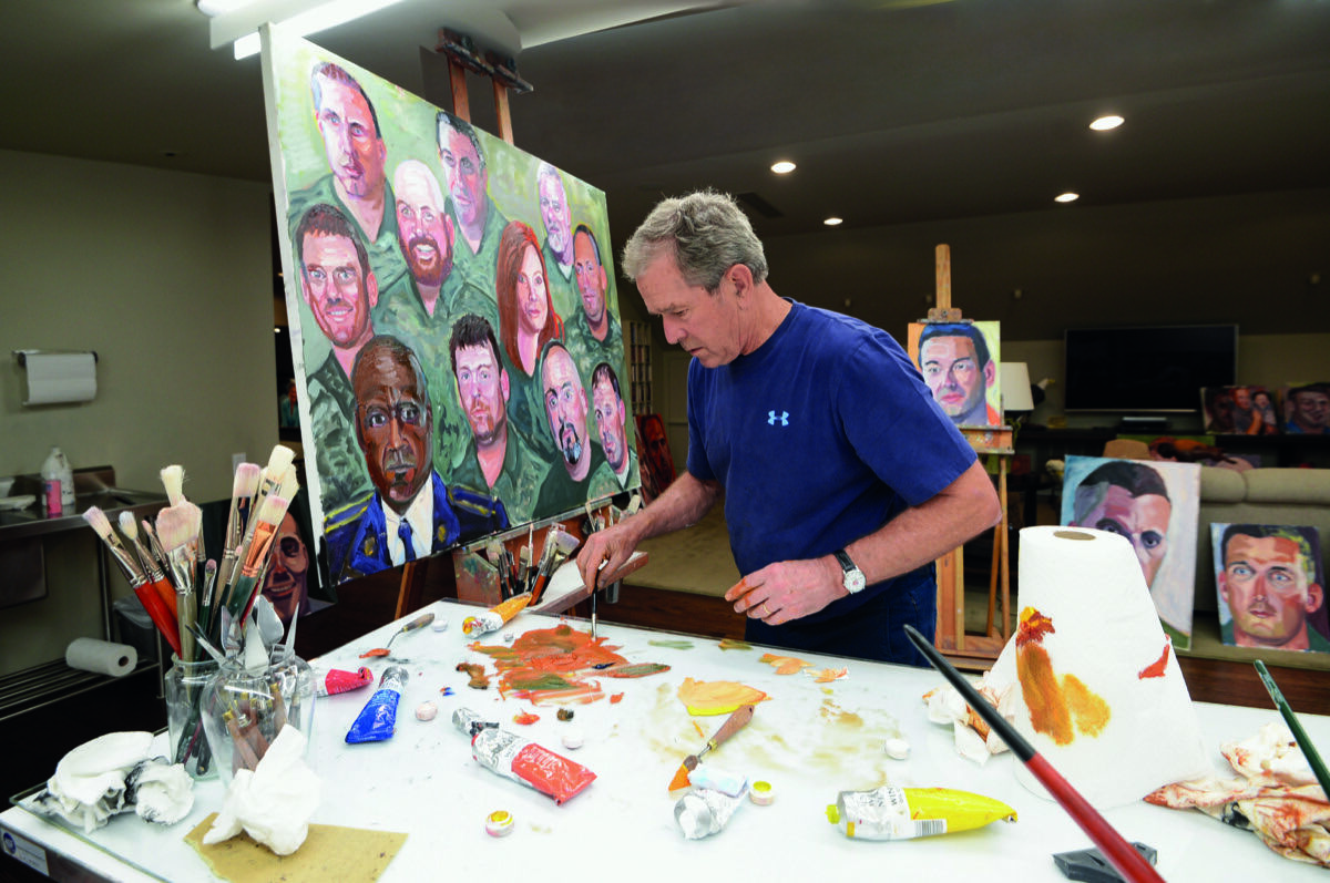 Former President Bush painting. Courtesy of President George W. Bush.