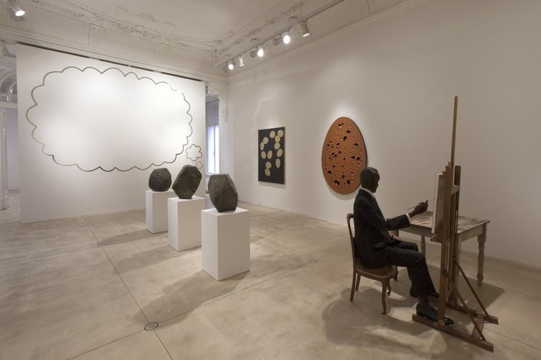 "Installation view of ""Gavin Turk—A Vision,"" courtesy of Galerie Krinzinger"