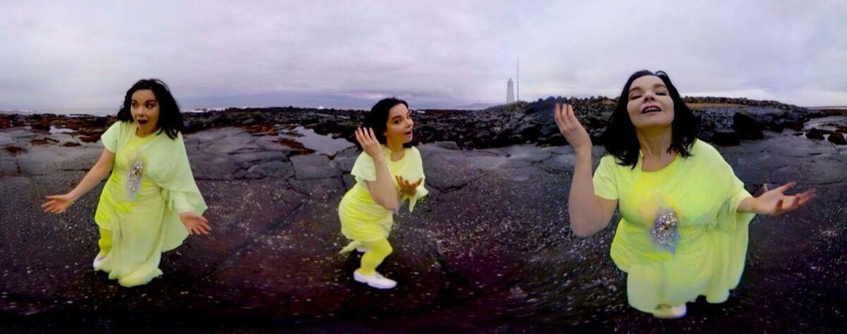 Björk, Stonemilker VR. Photo by Andrew Thomas Huang.