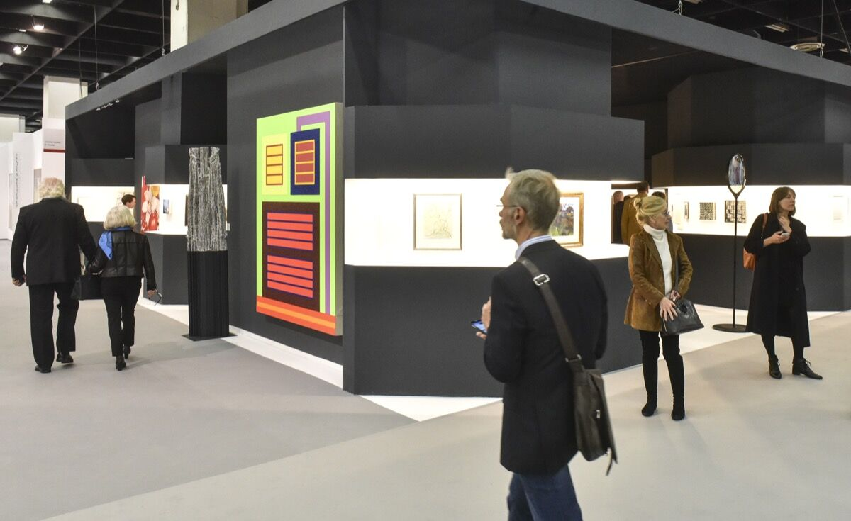 Installation view of Galerie Thomas's booth at Art Cologne, 2017. Courtesy of Art Cologne.