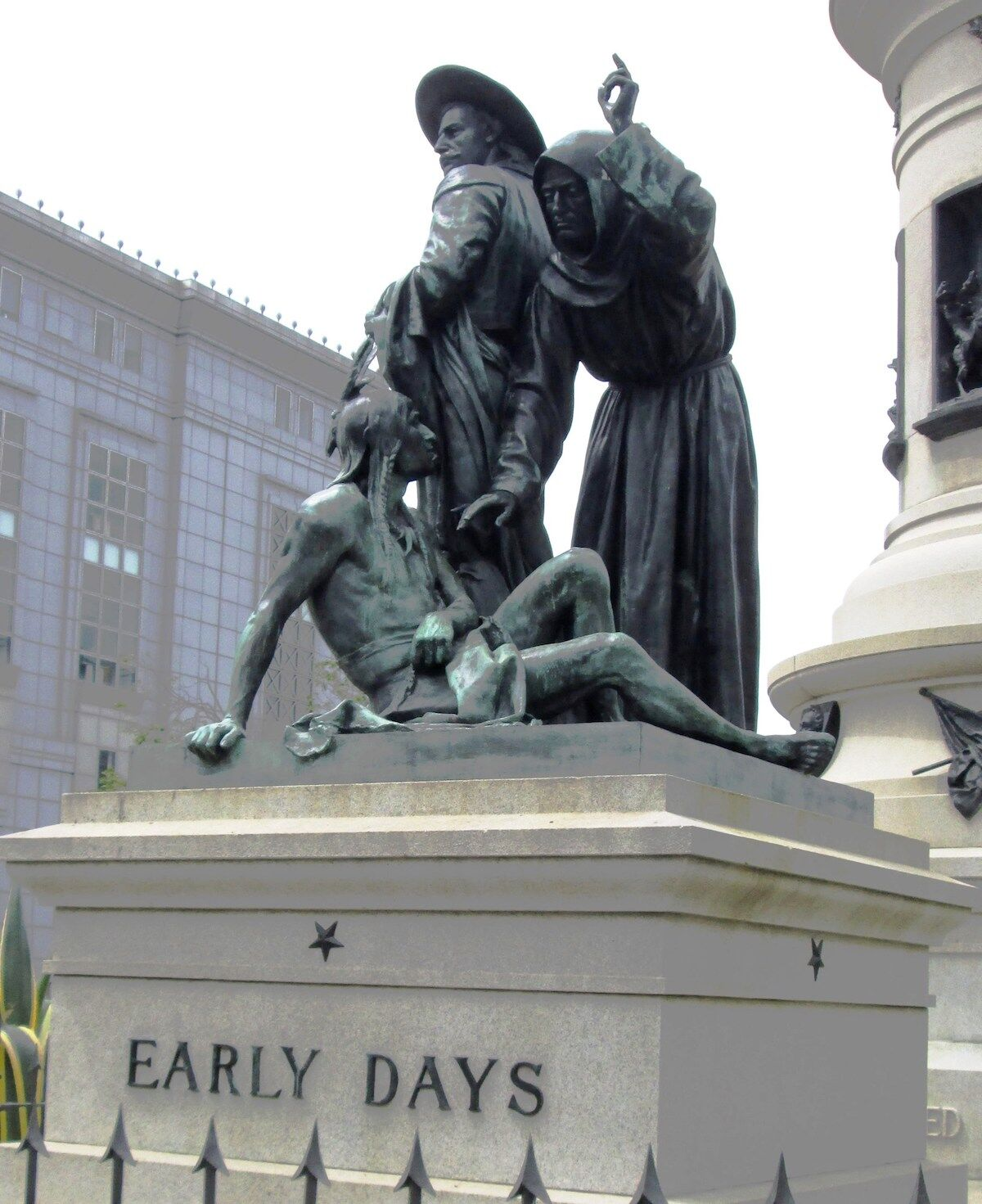 The Early Days (1894) statue that was recently removed in San Francisco. Photo by Beyond My Ken, via Wikimedia Commons.