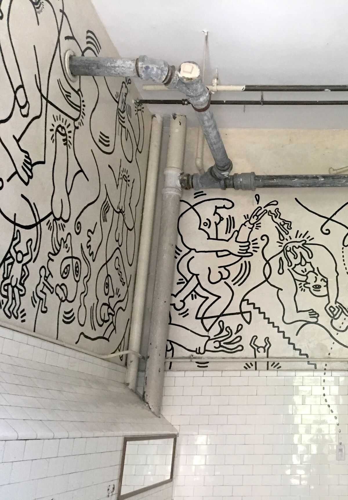 Installation view of Keith Haring, Once Upon a Time, 1989, at the LGBT Community Center, Manhattan.