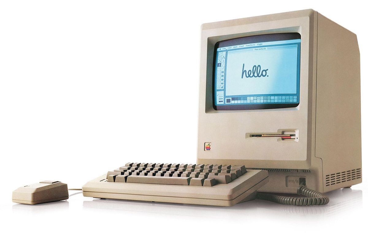 A 1984 Macintosh. Photo via Dave Winer on Flickr.