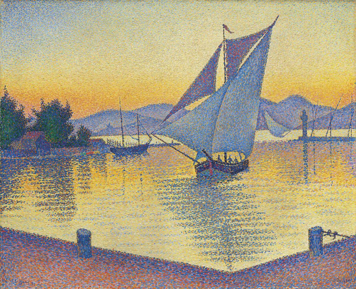Paul Signac, Le Port au soleil couchant, Opus 236 (Saint-Tropez), 1892. Courtesy of Christie's Images Ltd. 2019.