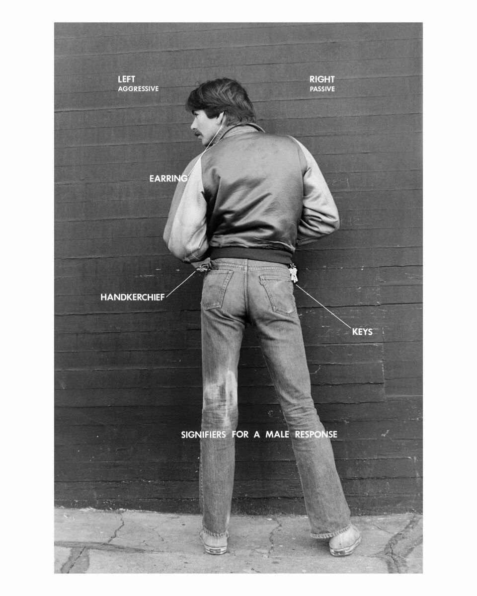 Hal Fischer, Signifiers for a Male Response, 1977. Courtesy of the artist and Gavin Brown's enterprise, New York / Rome.