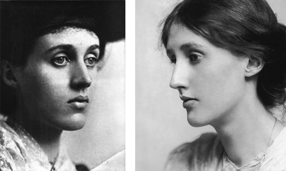 Left:Vanessa Bell, 1902. Right: Virginia Woolf, 1902. Images via Wikimedia Commons.