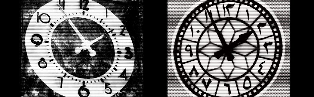 Bettina Pousttchi,World Clock (Los Angles/Doha)(2011/2013); Courtesy of Buchmann Gallery, Berlin, Lugano