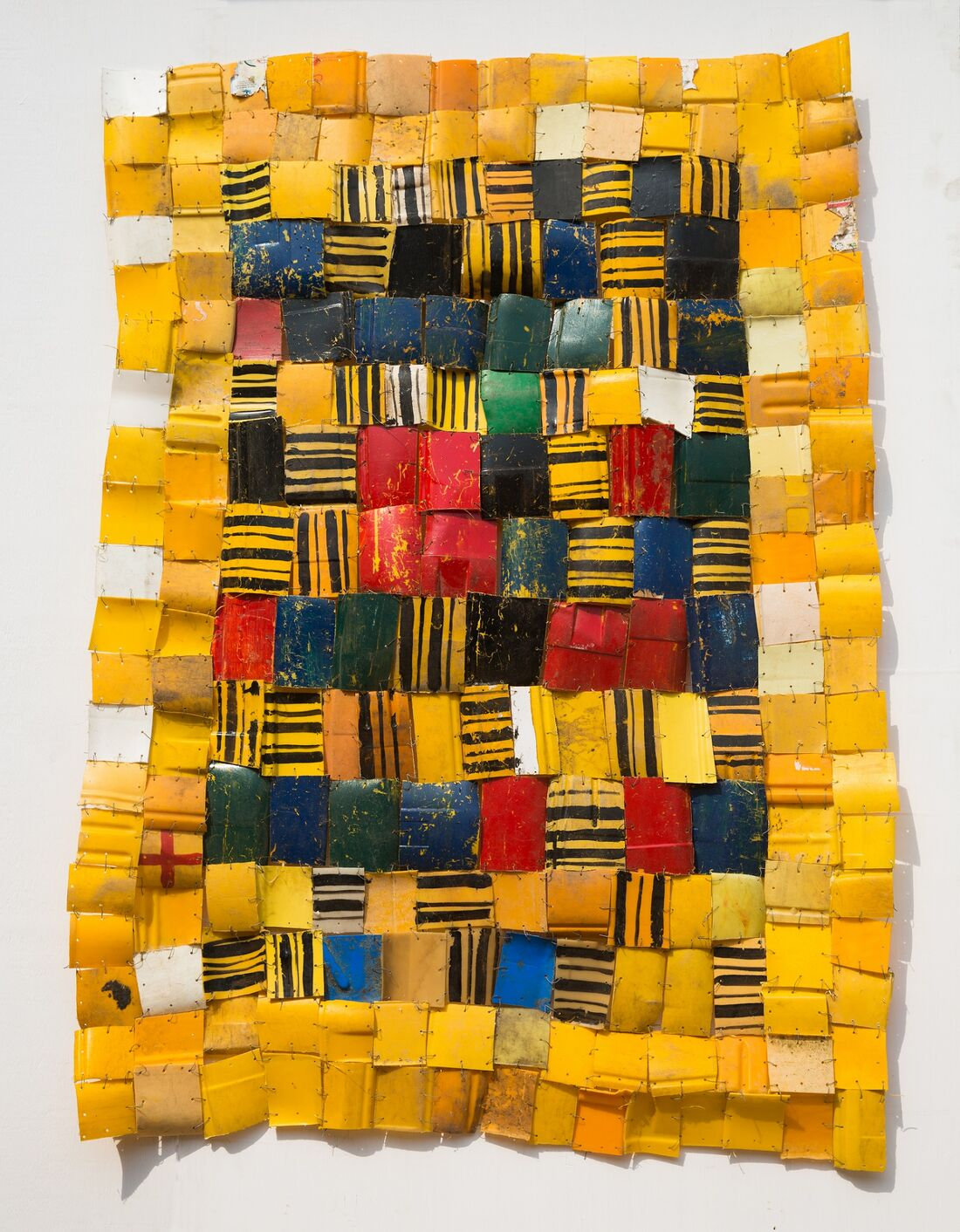 Serge Attukwei Clottey, Self Acquired; Courtesy of the artist and Gallery 1957.