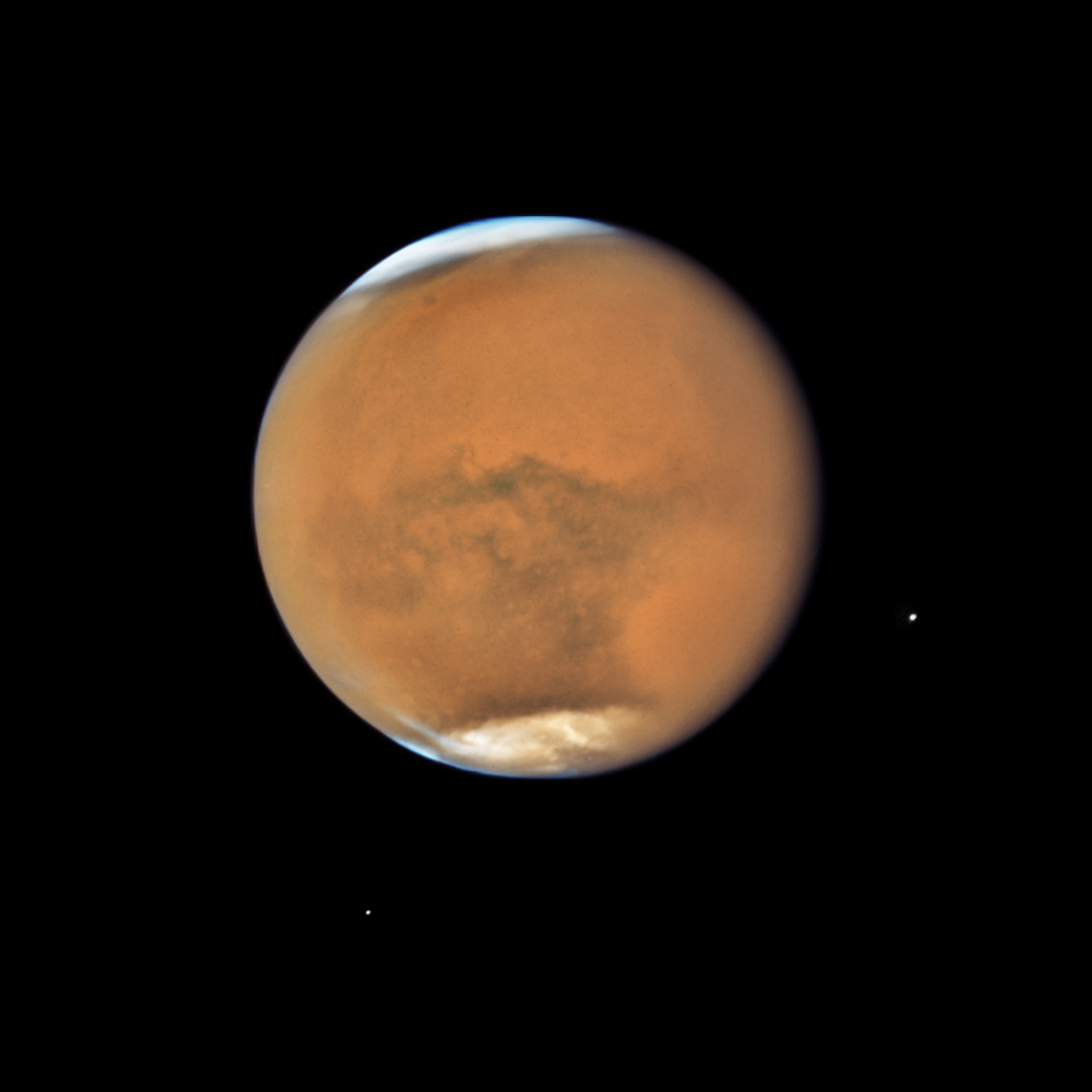 Mars dust storm, 2018. Photo by the Hubble Space Telescope. NASA, ESA, and STScI.