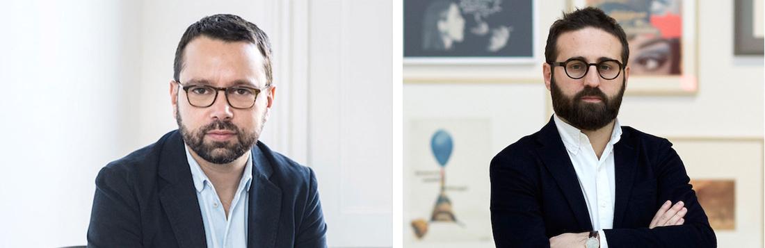 miart deputy director Alessandro Rabottini and artistic director Vincenzo de Bellis. Photo byMarco De Scalzi.