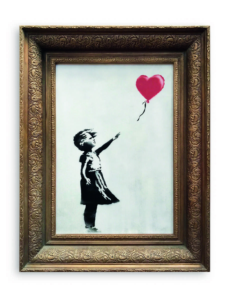 Banksy, Girl With Balloon, 2006. Courtesy of Sotheby's.
