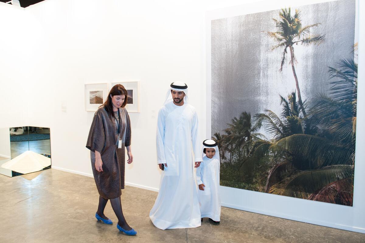 HH Sheikh Hamdan bin Mohammed Al Maktoum opens Art Dubai 2015.Courtesy The Studio, Dubai.