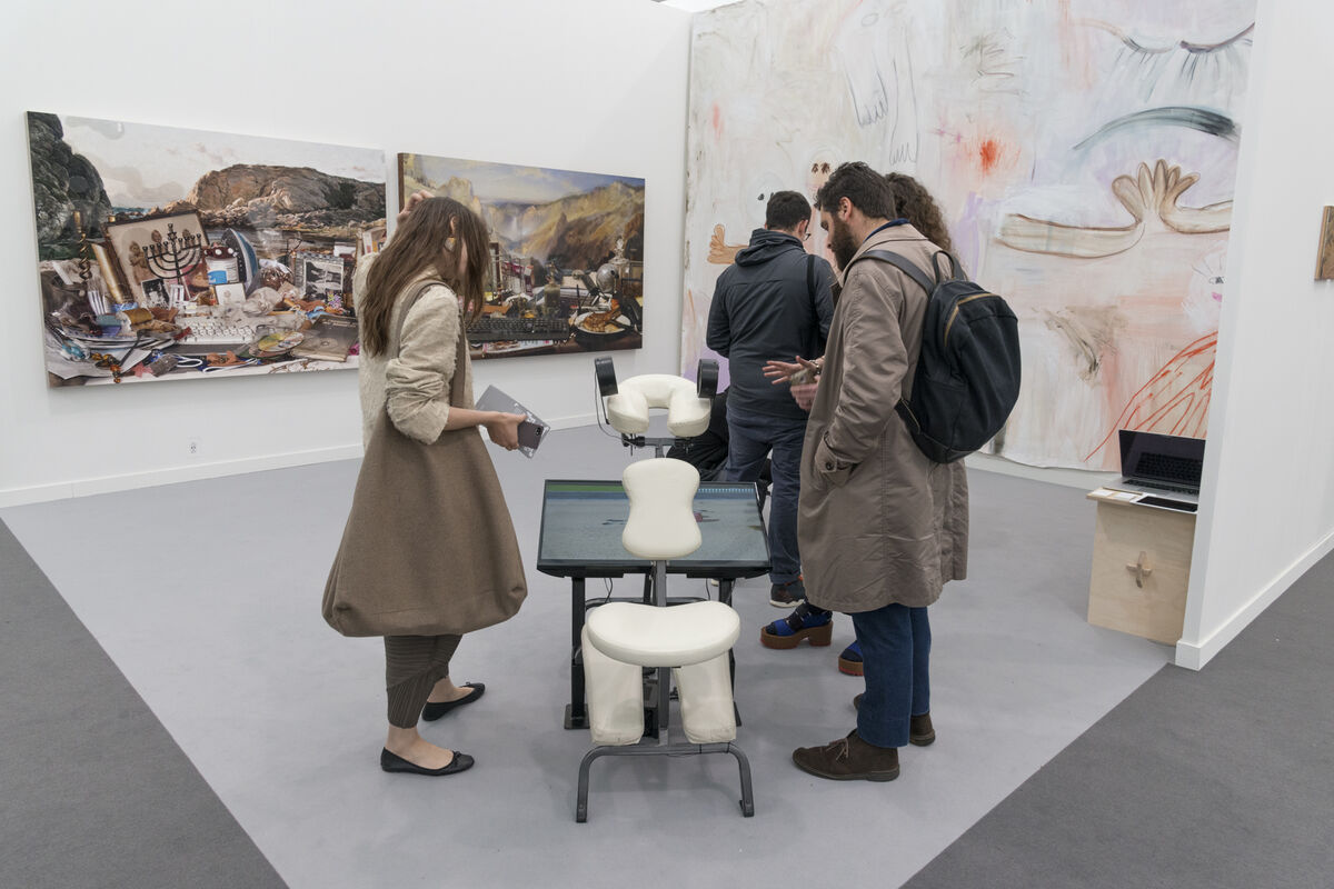 Installation view of Seventeen's booth at Frieze New York, 2016. Photo by Adam Reich for Artsy.