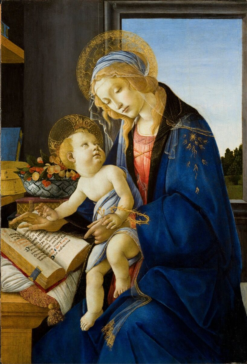 Sandro Botticelli, Madonna of the Book, ca. 1479. Museo Poldi Pezzoli, Milan. Image courtesy of the Muscarelle Museum of Art & Museum of Fine Arts Boston.